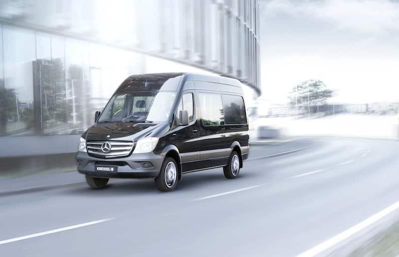 Kreisel Electric Sprinter – Nutzfahrzeug mit 300 km elektrischer Reichweite, mit bis zu 9 Sitzplätzen!