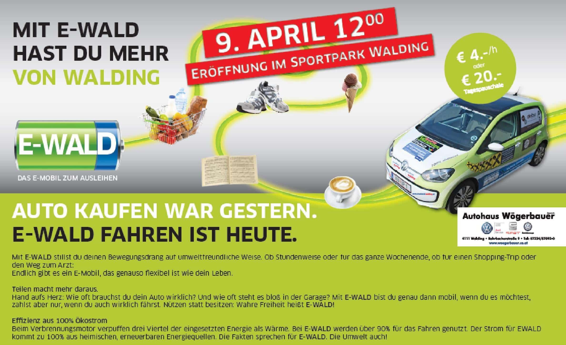 EMC Treff  bei der Carsharing Eröffnung in Walding » eWald