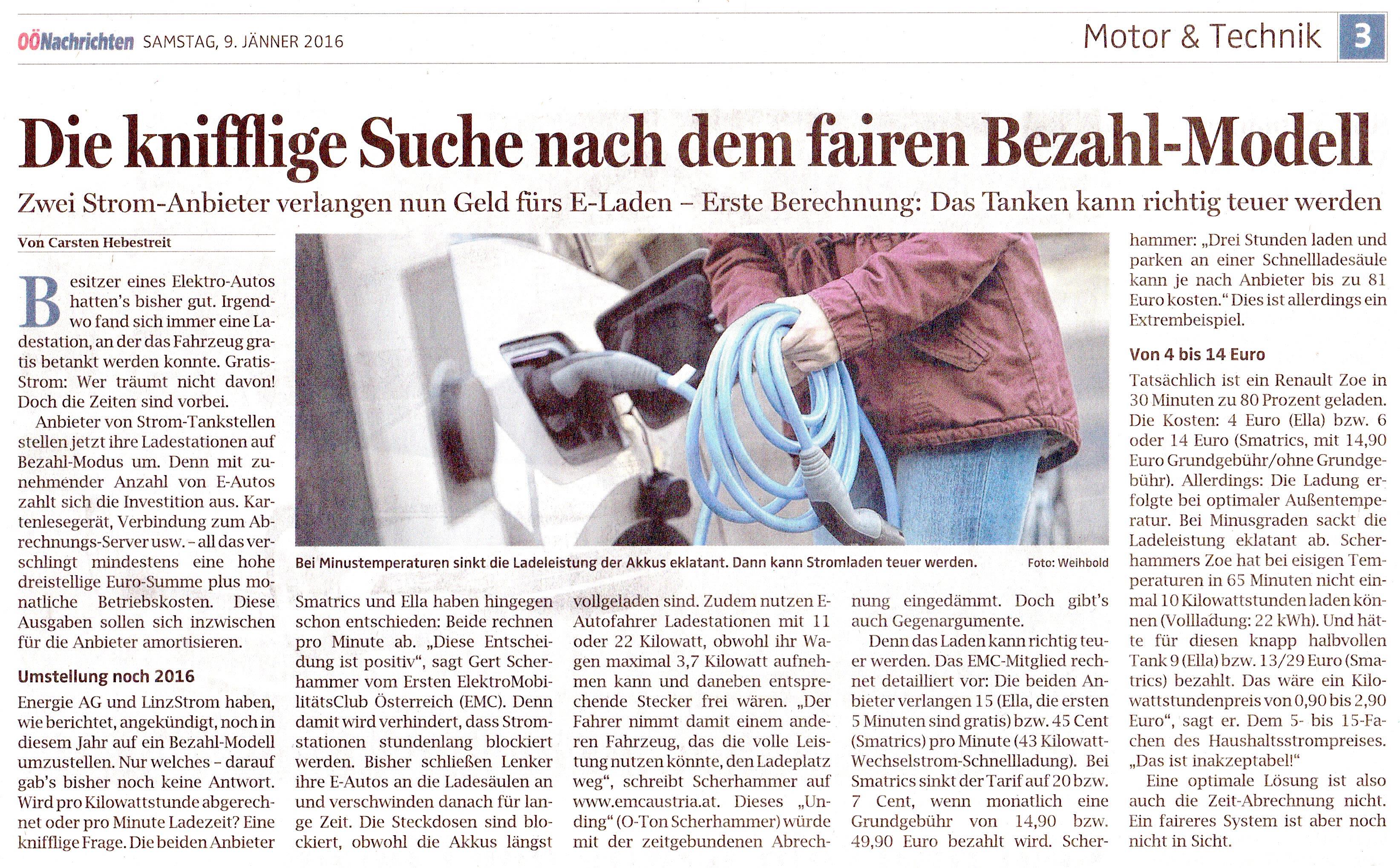 Oberösterreichische Nachrichten – 9. Jänner 2016