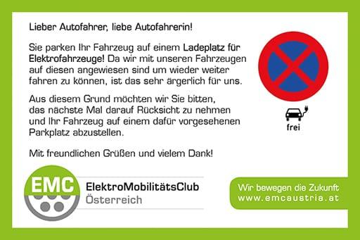 Ladekarten - Der freundliche Hinweis bei verparkten Ladeplätzen! » thumb 1