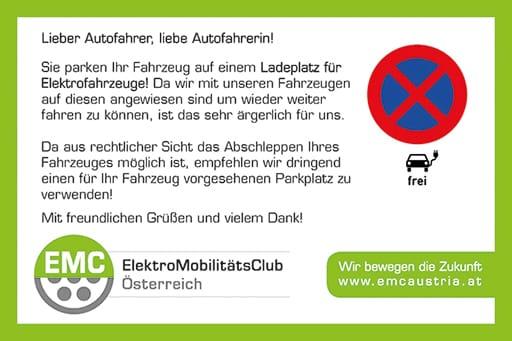 Ladekarten - Der freundliche Hinweis bei verparkten Ladeplätzen! » thumb 2