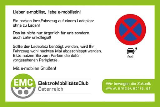 Ladekarten - Der freundliche Hinweis bei verparkten Ladeplätzen! » thumb 3