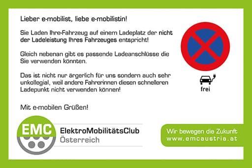 Ladekarten - Der freundliche Hinweis bei verparkten Ladeplätzen! » thumb 4