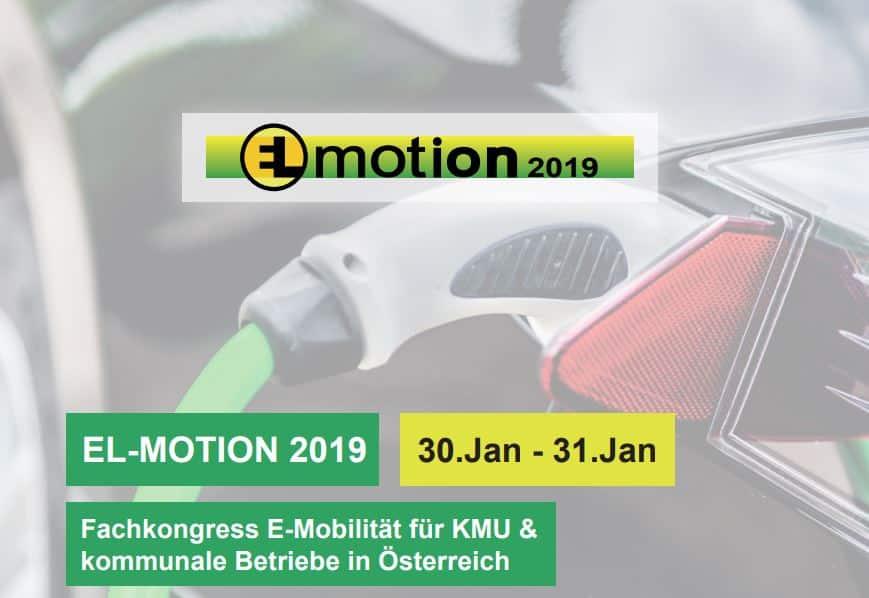 EL-MOTION 2019 – der 9. österreichische Fachkongress rund um E-Mobilität für KMU und kommunale Anwender