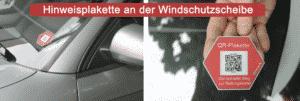Hinweisplakette am Auto1 » Hinweisplakette am Auto1
