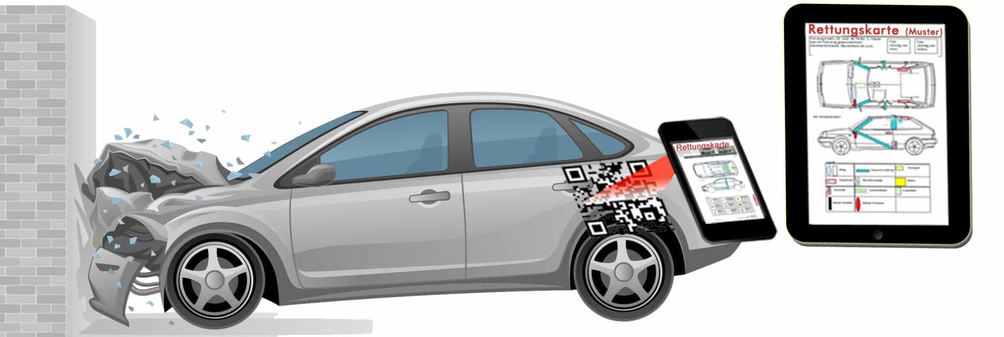 Die Rettungskarte von RES-QR » res qr auto