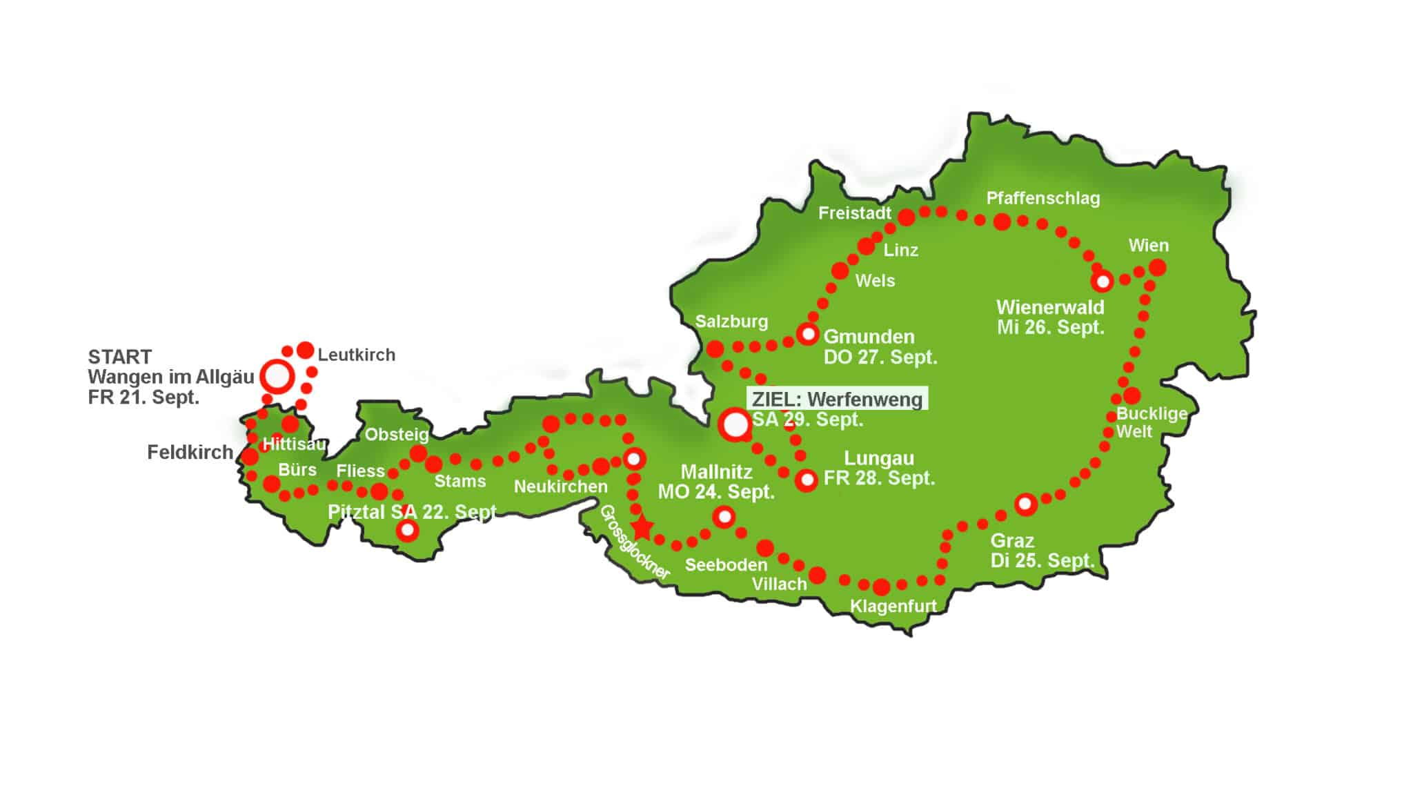 WAVE Trophy 2018 | WAVE Trophy the World s biggest electric vehicle rally 2018 Map Austria3