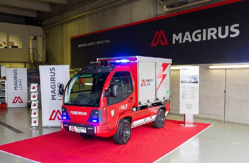 Magirus Lohr präsentiert erstes serienreifes, vollelektrisches  Löschfahrzeug der Welt! » isi3663 lbb