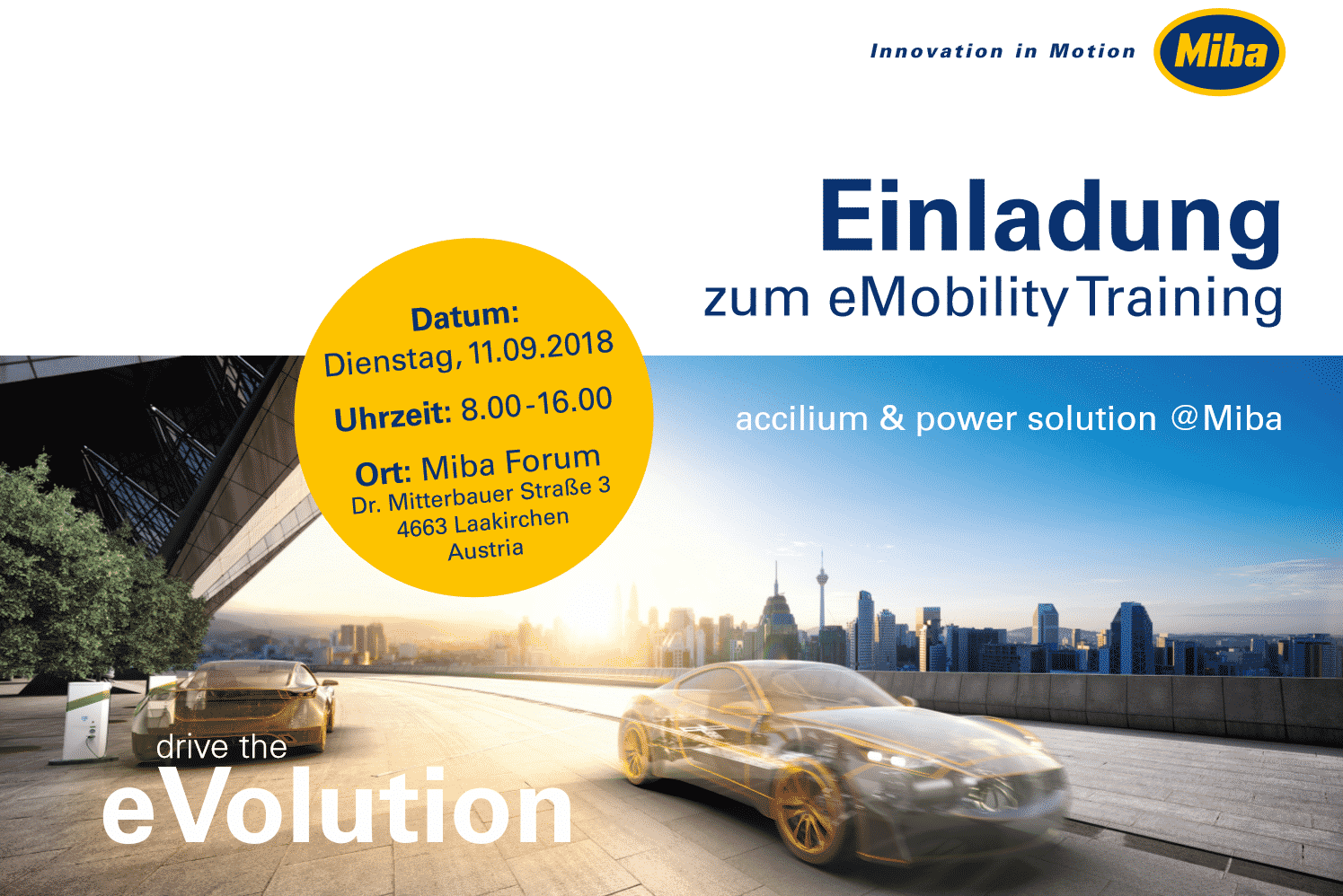 MIBA - eMobility Training » eMobility Training