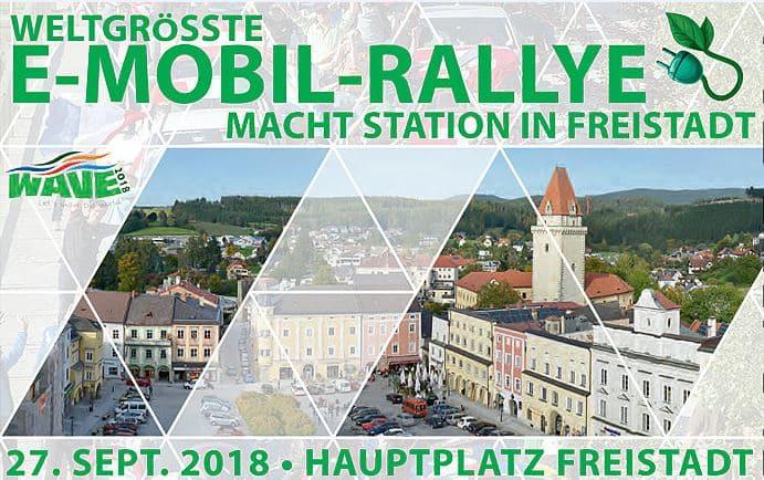 WAVE Trophy 2018 – Elektromobilitäts-Rallye kommt nach Freistadt