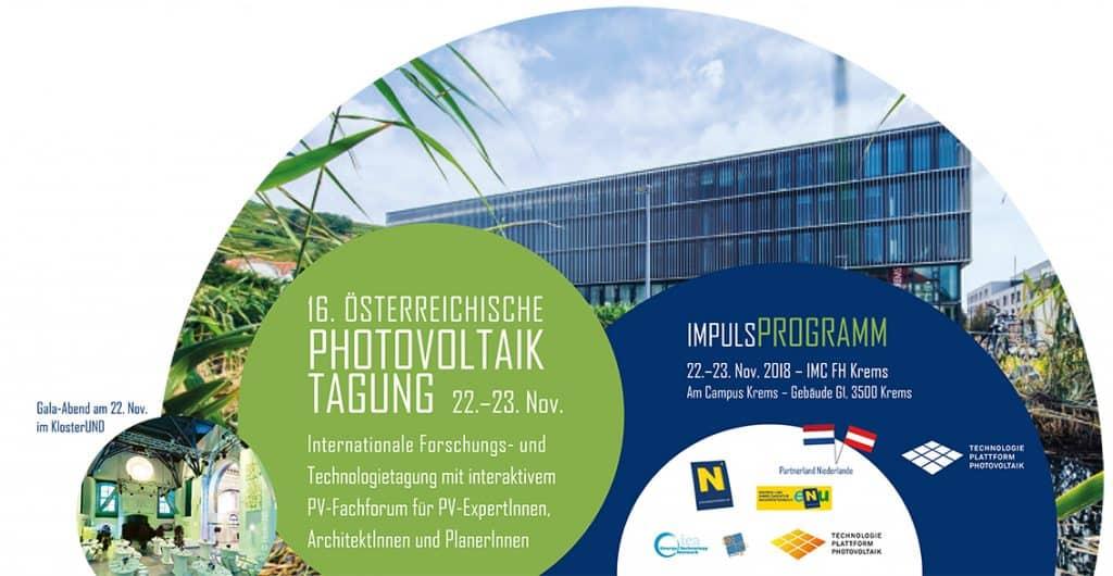 16. Österreichische Photovoltaik-Tagung – 22. bis 23. November 2018