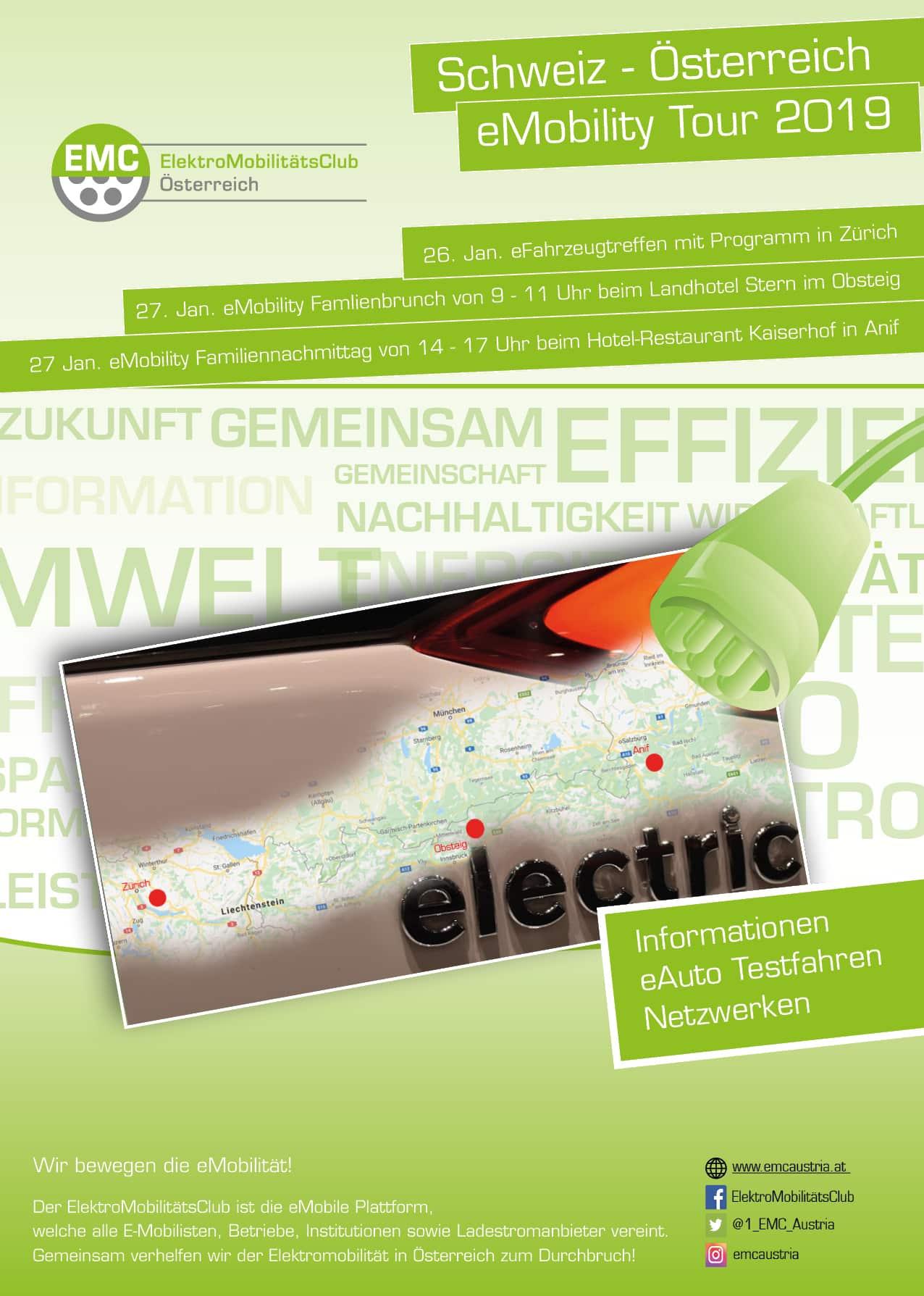 eMobility Wochenende | Schweiz Oesterreich
