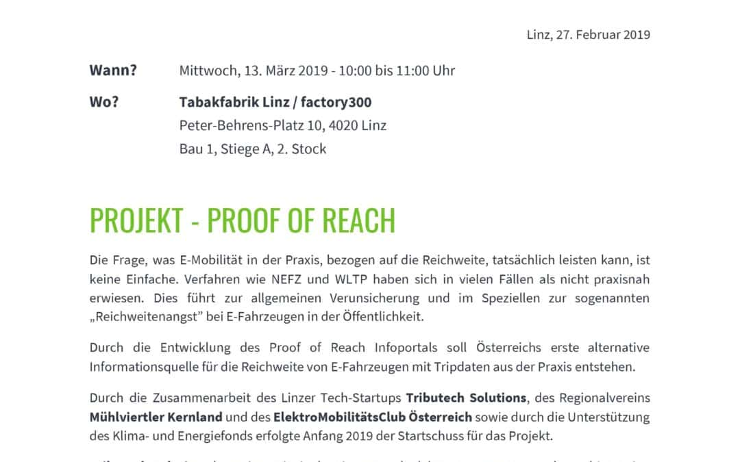 Pressekonferenz – Proof of Reach