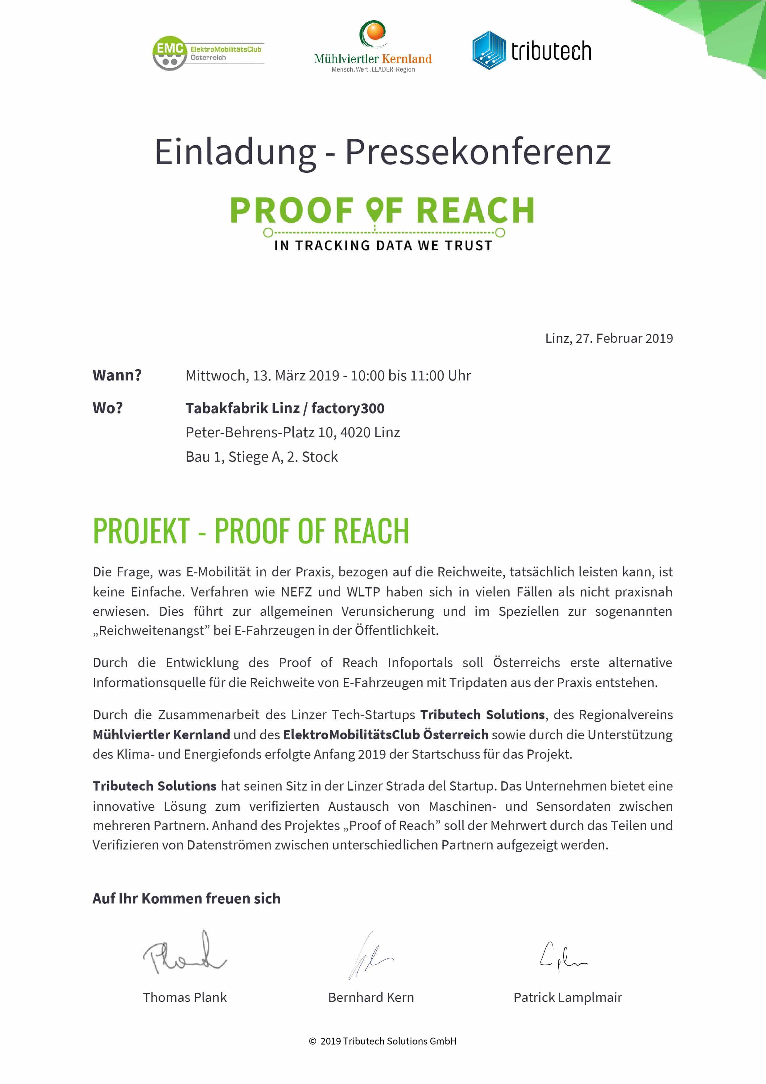 Pressekonferenz - Proof of Reach » Einladung Pressekonferenz Proof of Reach NEUER TERMIN page 001