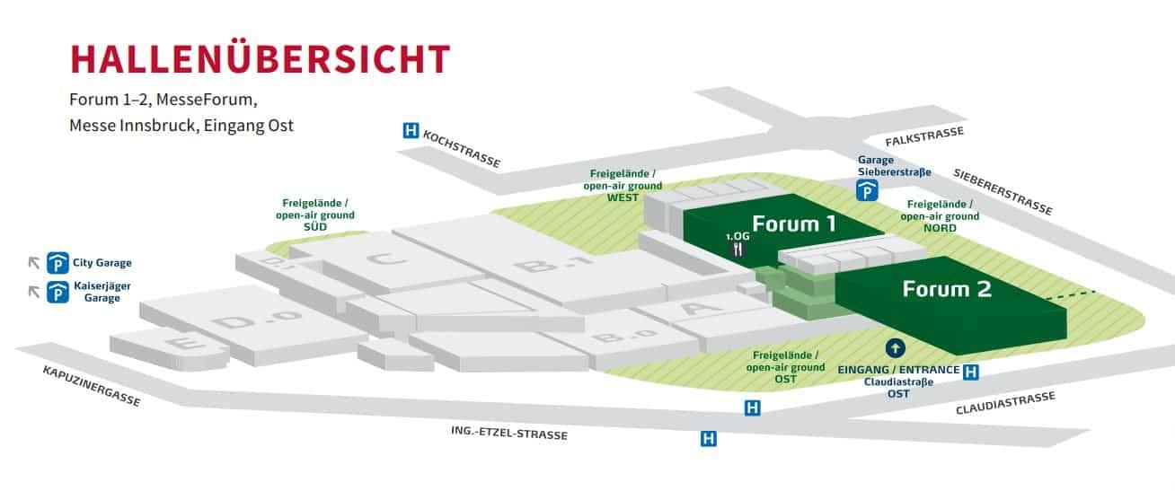 ÖKO Fair - Die Tiroler Nachhaltigkeitsmesse » Hallenübersicht