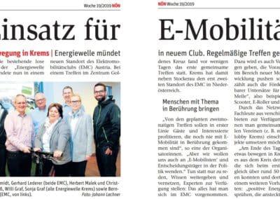 Pressespiegel » NÖN EMC Krems 2019