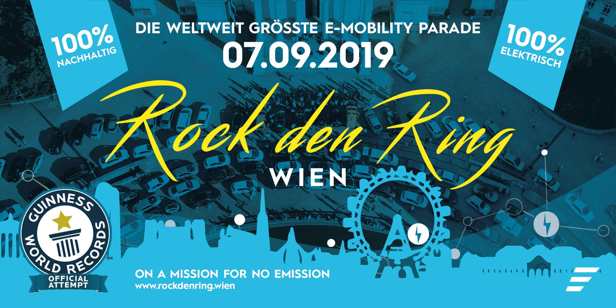 Rock den Ring – E-Mobility Parade | Titelbild RDR 2019