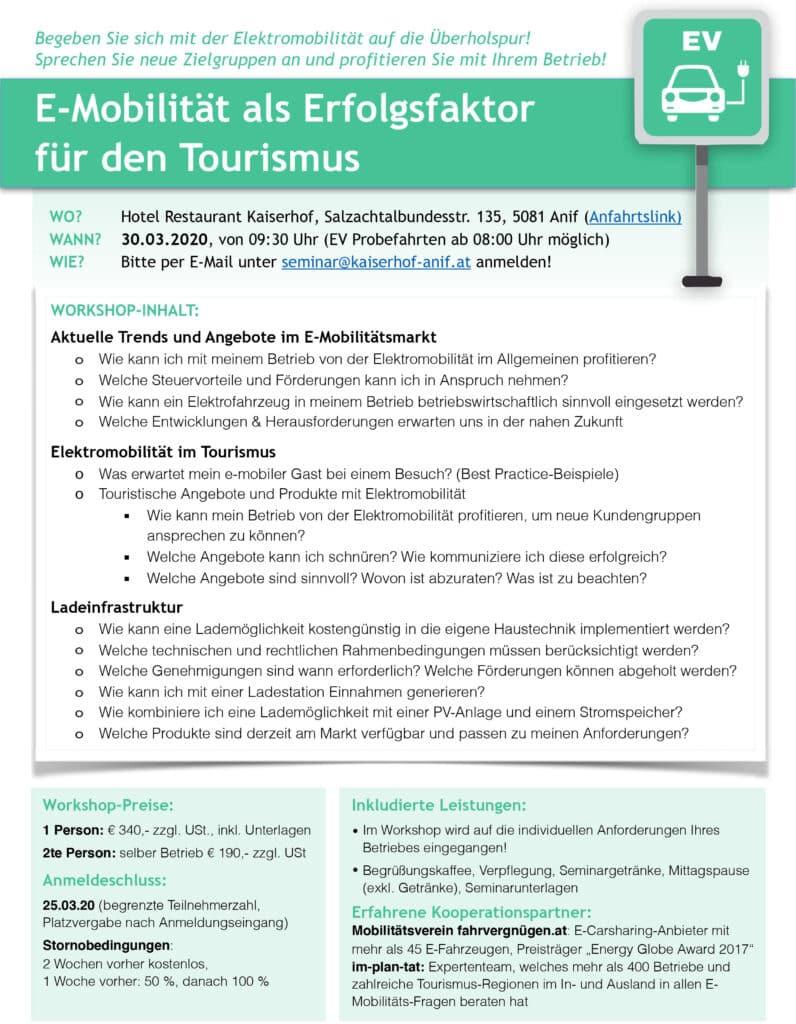 eMobility – Infoabend NIEDERÖSTERREICH - November » eMobilität als Erfolgsfaktor für den Tourismus