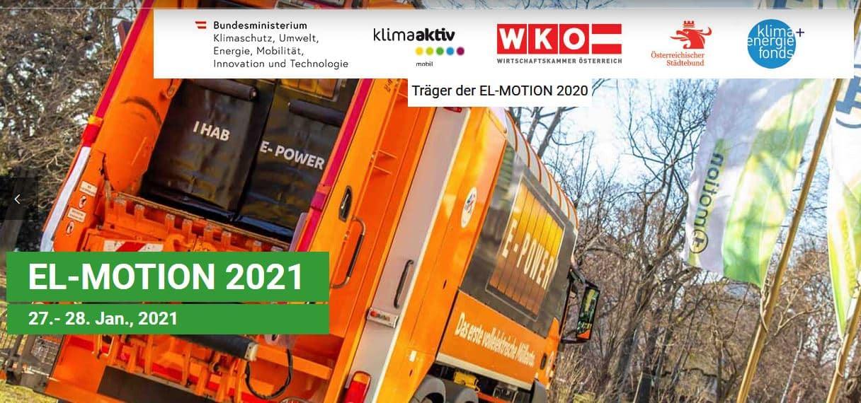 EL-MOTION 2021 – Fachkongress rund um E-Mobilität für KMU und kommunale Anwender » Header