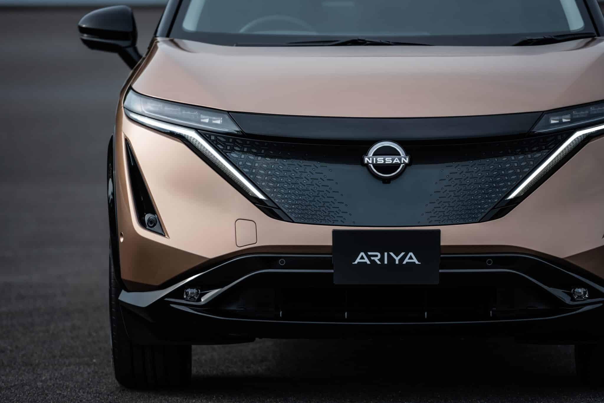 Coupé-Crossover - Vollelektrischer Nissan Ariya » Nissan Ariya exterior front 2 min scaled