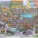 Vom Wohnquartier zum Zukunftsdorf » Wimmelbild gross min