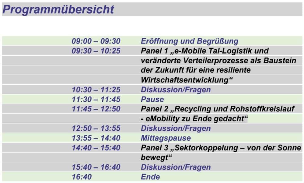 """""""eMobility – Umsetzung und neue Lösungen"""" - Online Fachkonferenz » Programm"""