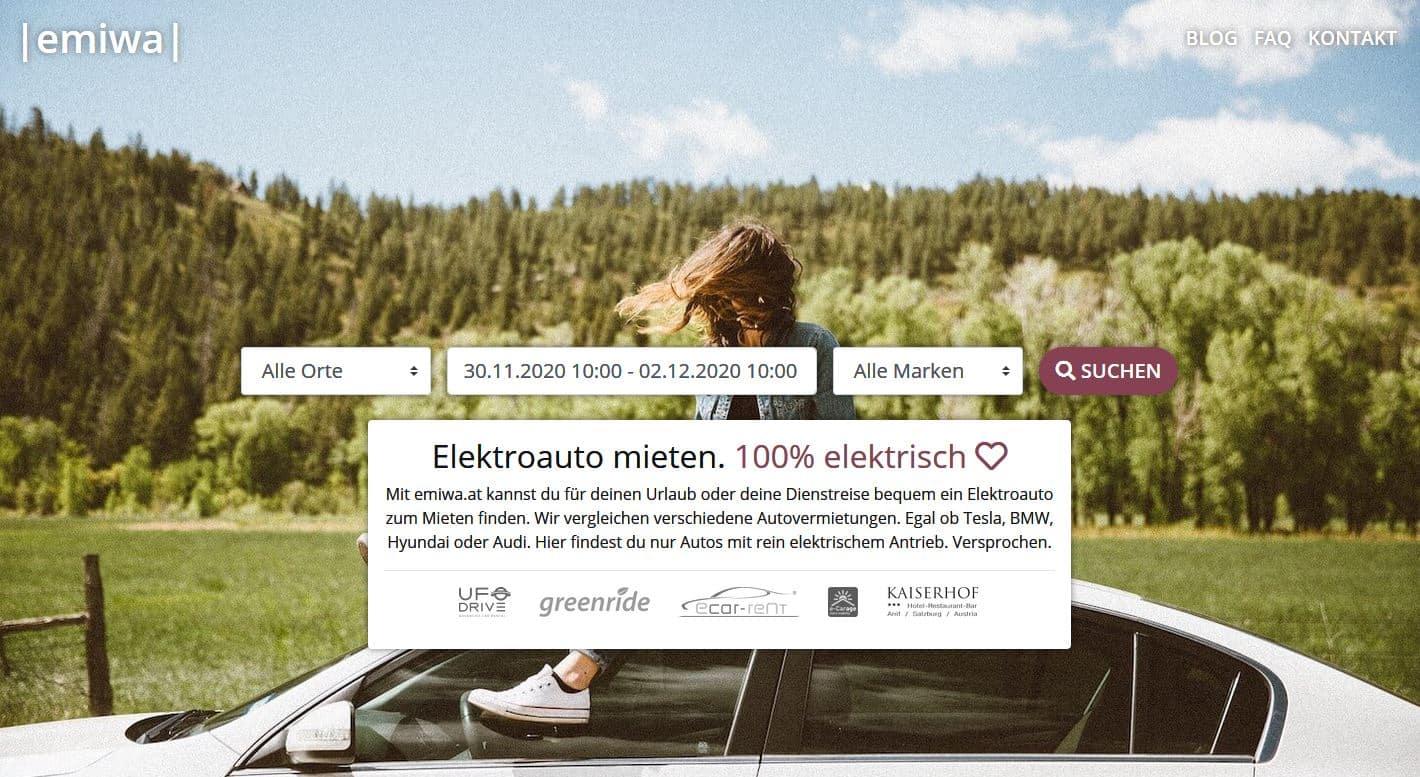 StartUp aus Wien launcht Plattform zum Finden von Mietwagen mit Elektroantrieb » emiwa