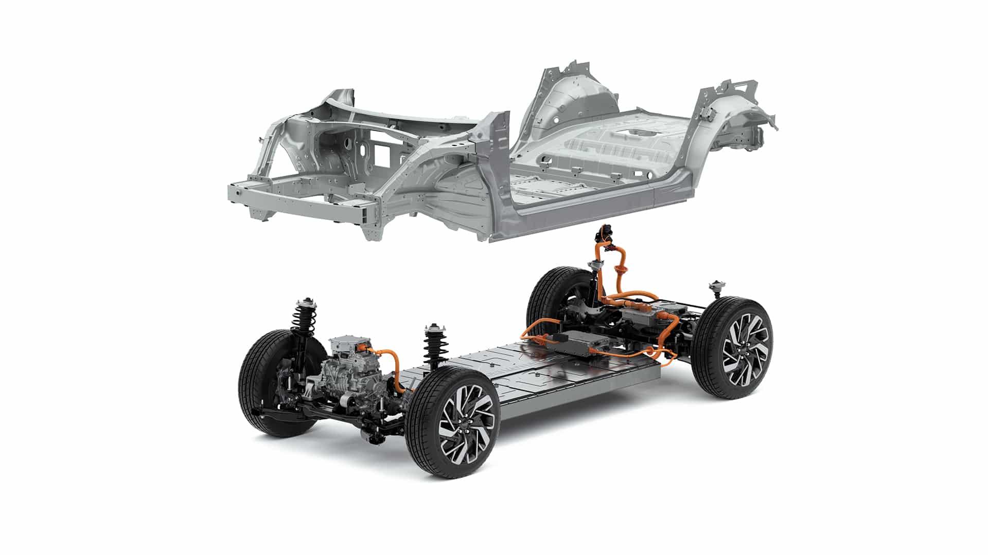 E-GMP neue E-Plattform der Hyundai Motor Group » Kia E GMP mit Chassis 01