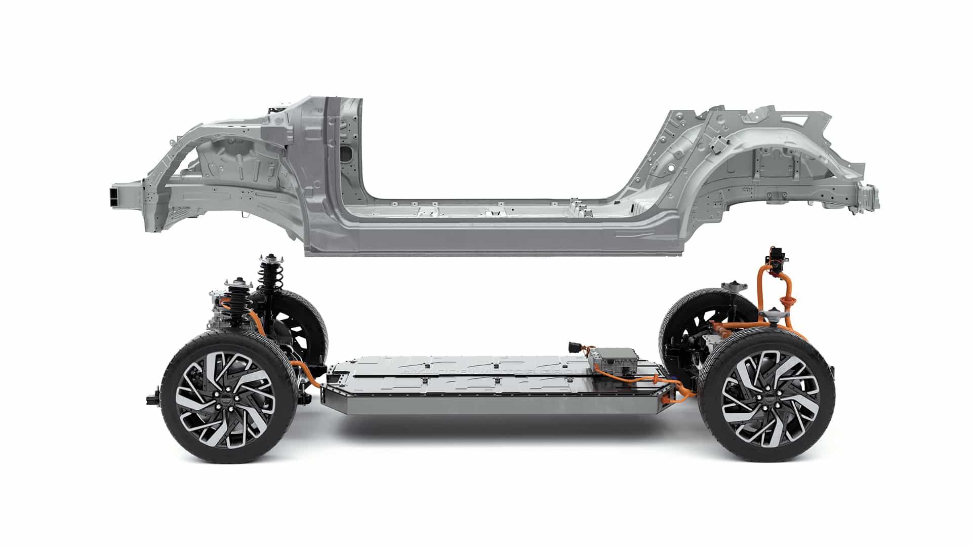 E-GMP neue E-Plattform der Hyundai Motor Group » Kia E GMP mit Chassis 02