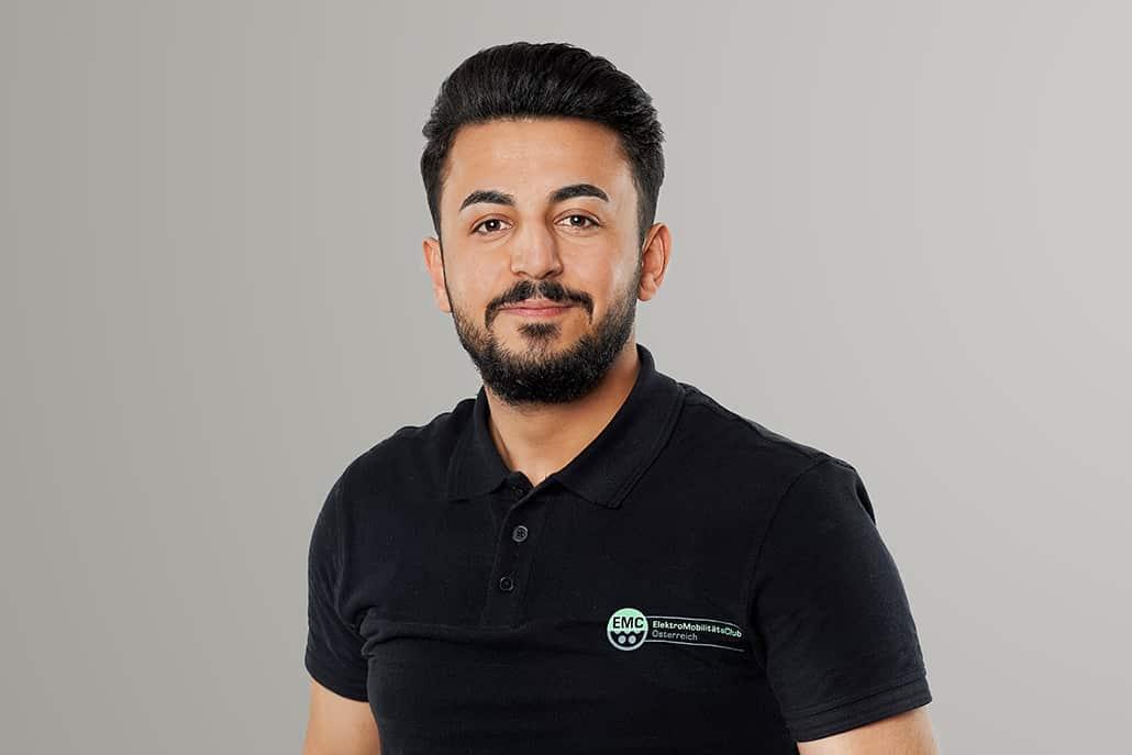 Elektro Mobilitäts Club Österreich - das Team stellt sich vor   EMC Kazim Hussam 3340 web