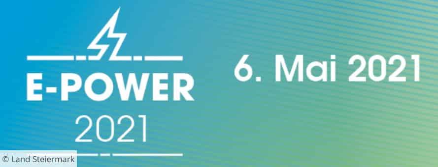 E-POWER 2021 - Energiefachtag E-Mobilität | Screenshot ePower Header