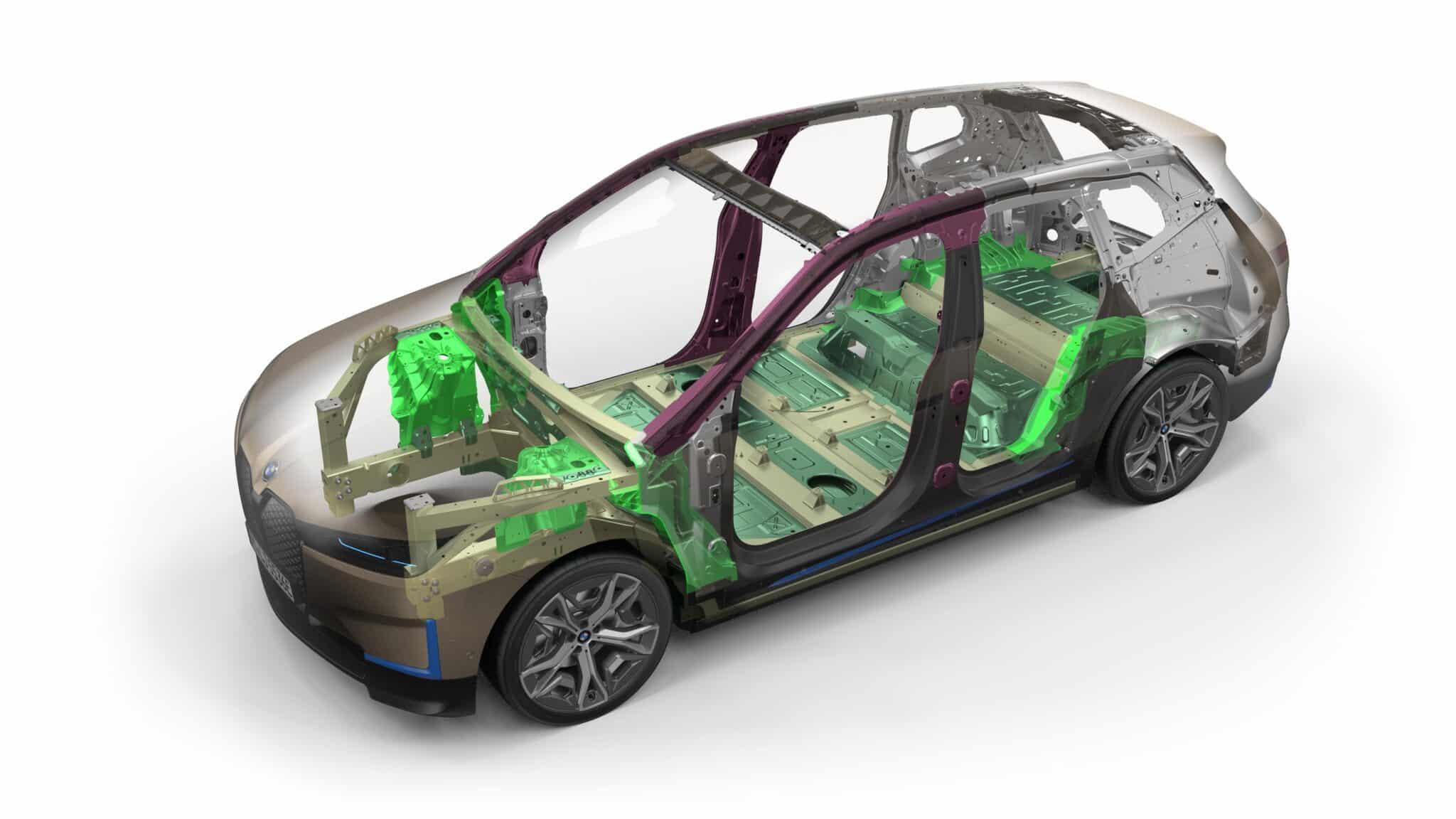 Der erste BMW iX. | P90423673 highRes bmw ix chassis june min scaled