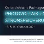 ÖSTERREICHISCHE FACHTAGUNG FÜR PHOTOVOLTAIK UND STROMSPEICHERUNG | Banner PV Austria Fachtagung2021